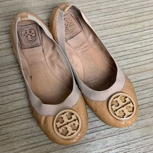 Tory Burch -Tan Patent Leather Flats
